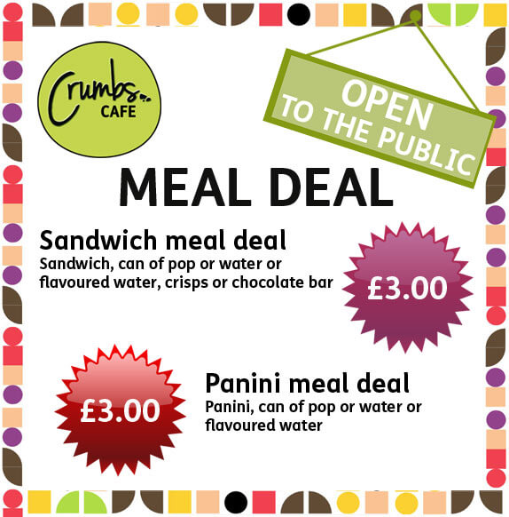 Crumbs Cafe Meal Deal offer
