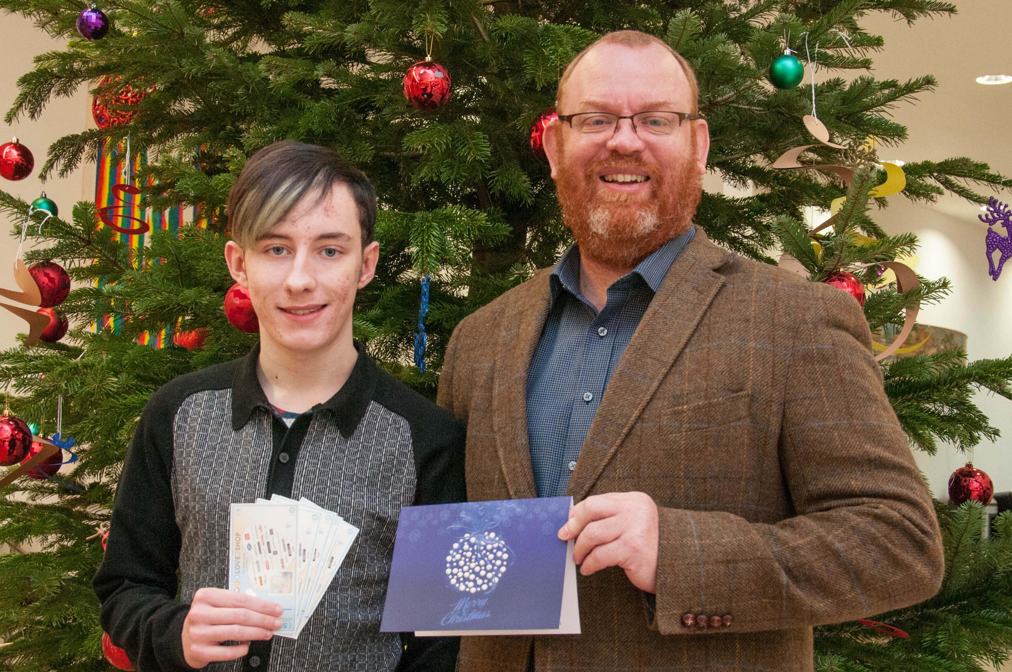 Student produces winning Christmas card design   Barnsley College