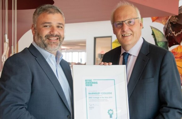 Barnsley College receives BTEC Awards recognition