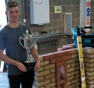 Student clinches first place in national bricklaying competition